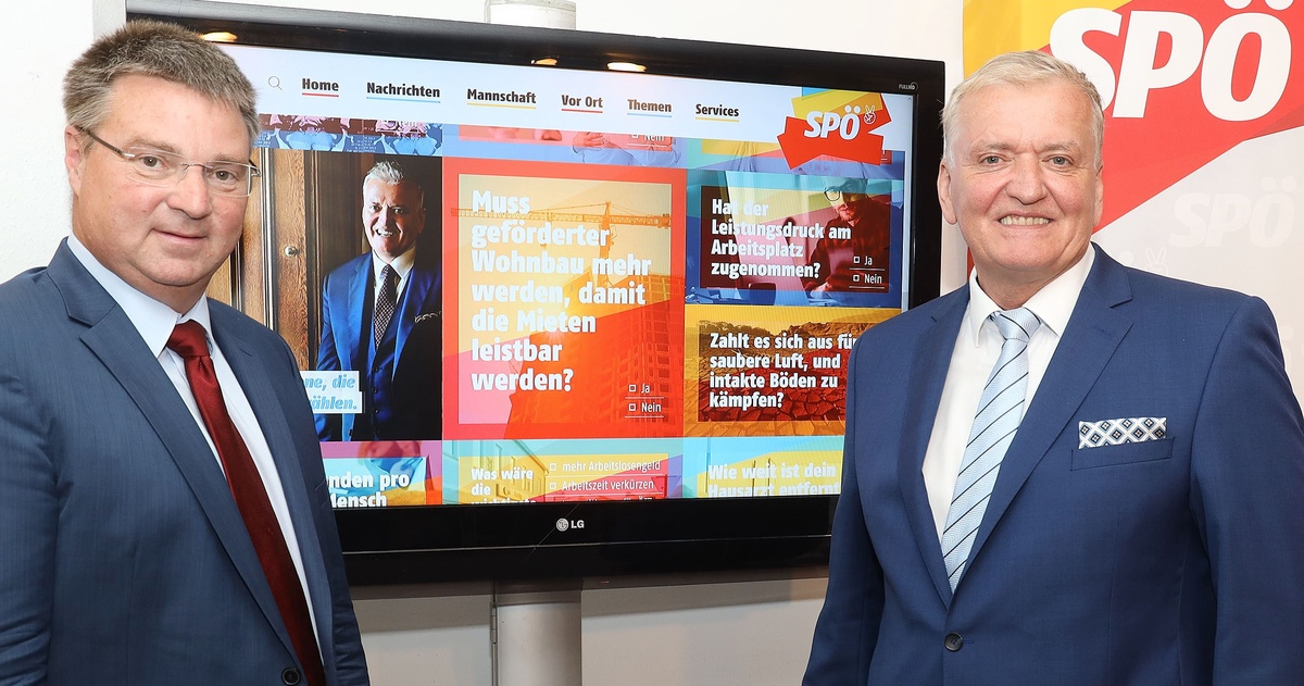 Schnabl/Kocevar: SPÖ NÖ geht mit neuer Homepage online