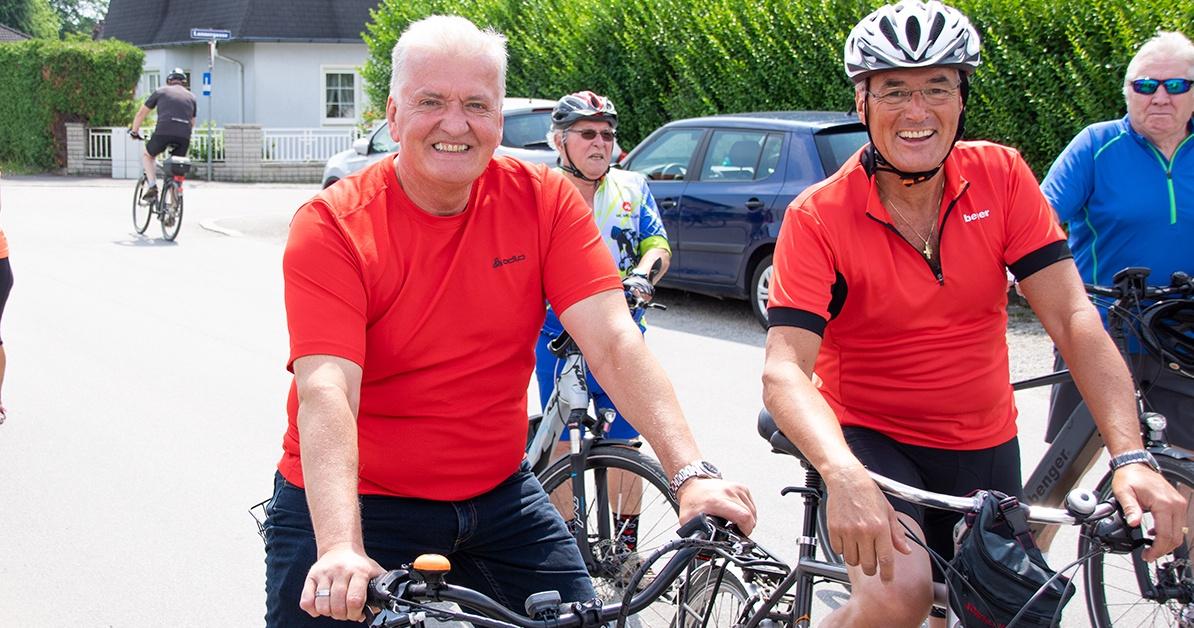 23 Kilometer über 3 Gemeinden: LHStv. Franz Schnabl beim Naturfreunde-Radwandertag in Deutsch Wagram